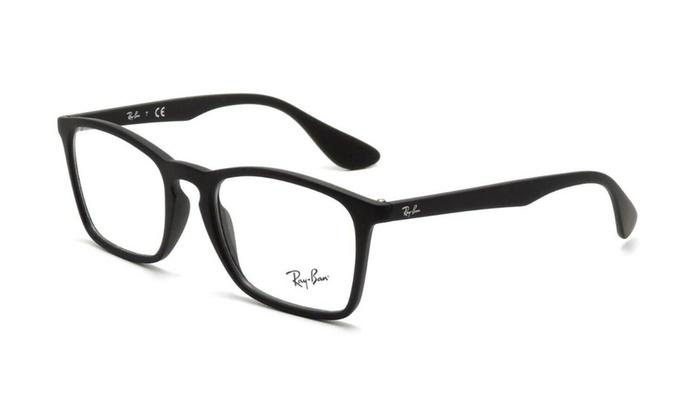 4516ab500 Ray Ban Chris Men Eyeglasses Square RX7045 5364 53 Black Frame / Demo Lenses