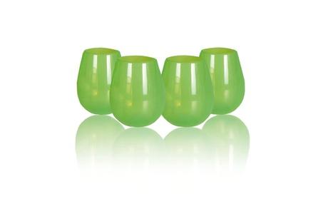 JYPC Unbreakable Silicone Stemless Wine Glasses, 12 oz, (Set of 4) 6c1630aa-6a01-49fb-832e-124cdf4d3c17
