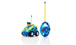 Cartoon Remote Control (R/C) Police Car for Kids and Toddlers with Sound and Lig