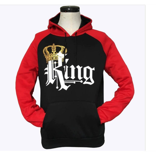 b4bcc026 Couple Matching King Queen Crown Hoodie Pullover Sweatshirt | Groupon