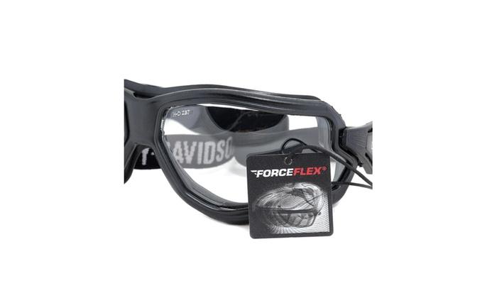 Goggle Sunglasses HDSZ 710 BLK-22 – Black Frame – Clear Lens