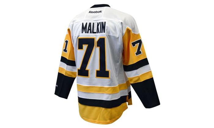 outlet store 902fd 045d7 Evgeni Malkin Pittsburgh Penguins White Reebok Premier Jersey
