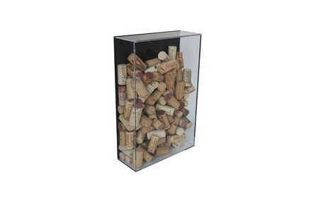 Deluxe Acrylic Wine Cork Display Case with Black Back Mount(A051)