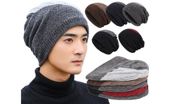 Winter Hat Warm Knitted Wool Thick Baggy Slouchy Beanie Cap for Men Women Gifts