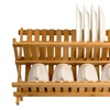 Wooden dish rack plate rack Collapsible Compact dish drying rack