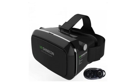 VR Shinecon Virtual Reality 3D Glasses with Bluetooth Controller - Black 0d39e9a9-49bc-4b1c-98d8-d1759535379c