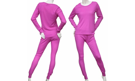 Women's 2-Piece Lightweight Soft Waffle Knit Thermal Set 4ec7bc16-dd56-4dbb-a1a4-8179dae36662