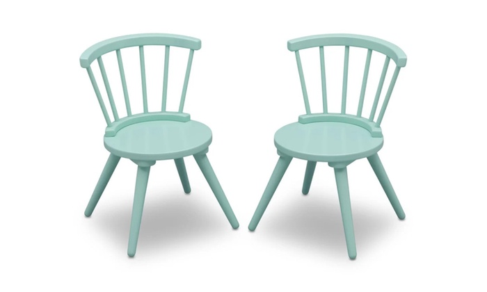 Justine Windsor 3 Piece Table and Chair Set by Delta | Groupon