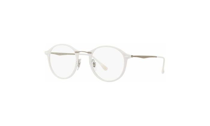 Ray Ban Eyeglasses RX7073 5618 49 White Frame / Clear Lenses | Groupon