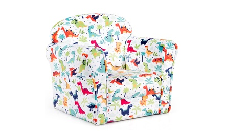 Costway Children Dinosaur Single Sofa Armrest Chair Furniture Cute Gift for Kids