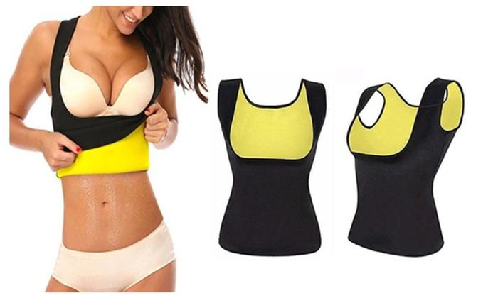 c440053485fe2 Sauna Body Shaper For Women Neoprene Waist Tummy Yoga Corset Vest ...
