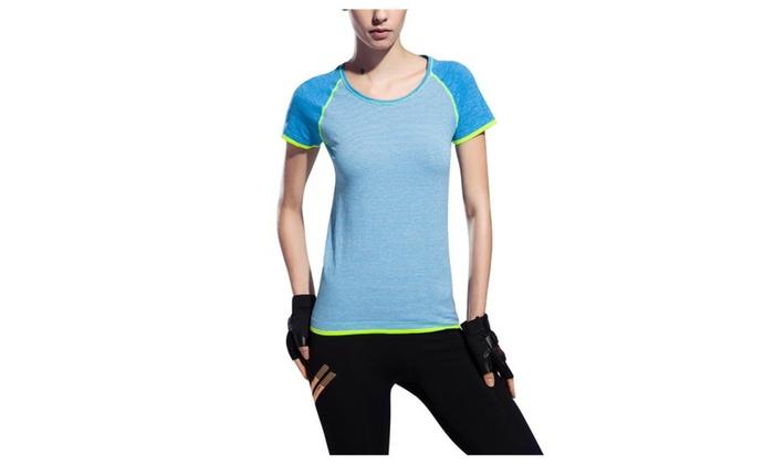 Syins Women Dry Quick Sweat Fitness Running Sports T-shirt