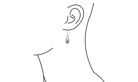 Celtic Knot Work Amethyst Sterling Silver Drop Earrings