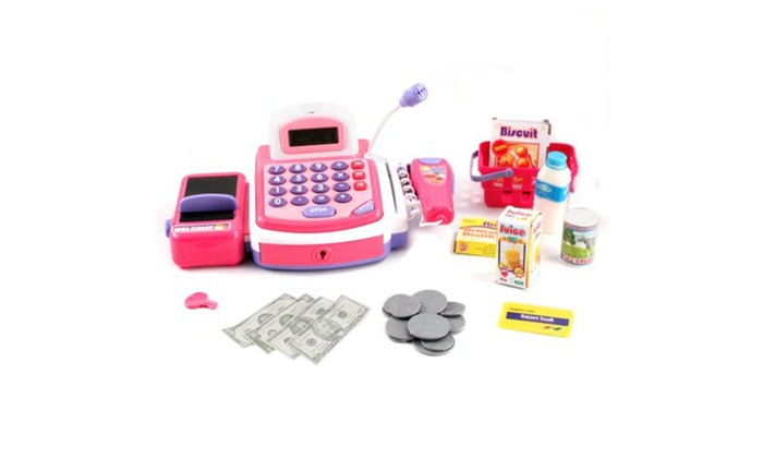 Deluxe Toy Cash Register : Pc deluxe edition play electronic cash register toy