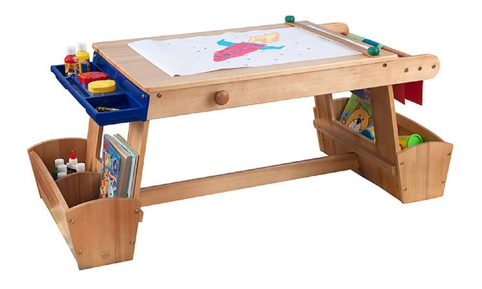 KidKraft Art Table With Drying Rack And Storage ...