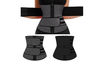 Waist Trainer Women Corset Sauna Sweat Weight Loss Body Slimmer Shaper Yoga Belt Was: $29.99 Now: $10.99.