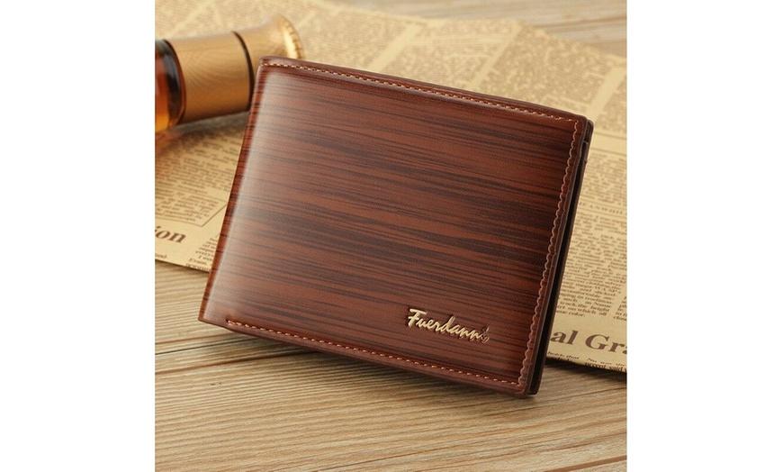 Men/'s Business Bifold Leather Wallet Credit Card Holder Billfold Purse Clutch