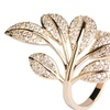 Zircon Tree Flower Leaf Shape Micro Pave Ring for Women
