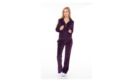 White Mark Women's Velour Suit f05059ca-3d38-4687-98f5-b633182a3753