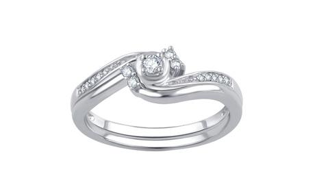 1/6 Cttw Diamond Bridal Ring Set in 10K White Gold-R-13189FW6SC