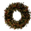 """48"""" Wintry Pinw Wreath with 200 Clear Lights"""