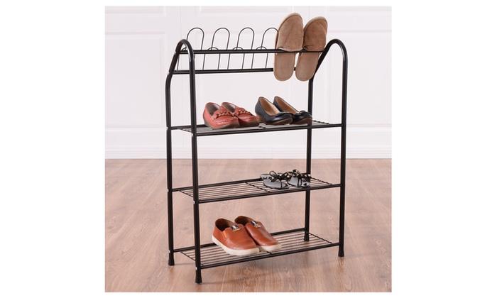 ... 4 Tire Metal Shoe Tower Shelf Storage Rack Cabinet Dorm Home ...