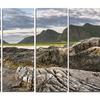 Rocky Coastline on Lofoten - Landscape Photo Metal Wall Art