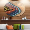 Abstract Mineral Texture' Disc Abstract Metal Circle Wall Art