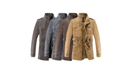 Men's Vintage Plus Size Zip Up Leather Winter Jacket 881a4dd3-48b1-4ca1-b55a-120ce3485783