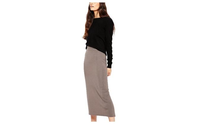 chalmart: Stylebek Women's Solid Slim Fit Mid-Rise Casual Popular Pencil Dress
