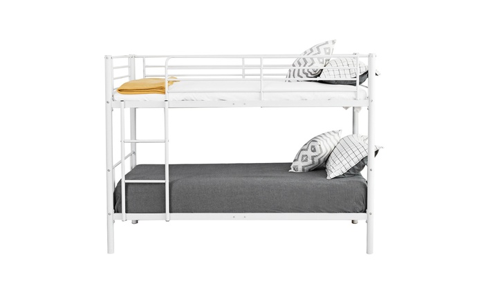 Up To 44% Off on Twin Over Twin Bunk Bed Metal... | Groupon Goods