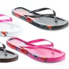 Tropical Print Women's Open Toe Flip Flop Sandals