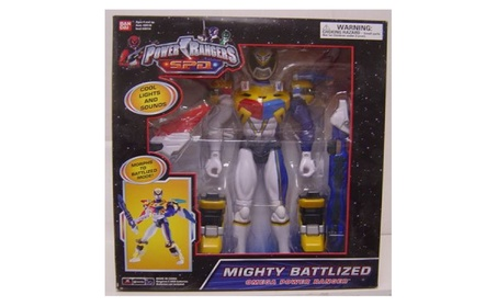 Power Rangers 12 Inch Action Figure White Mega Battlized Talking Omega 734d8cbe-b6c8-454b-ac1e-f4869eee1164