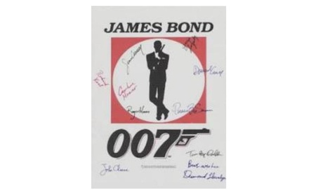 007 James Bond Autographed Movie Poster e1dd5a64-4dff-4b1f-8cf1-f34544ab2330