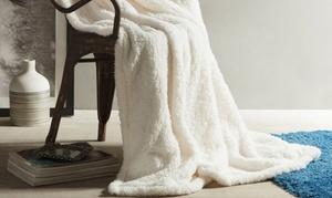 Kensie Heavy Ultra Soft Reversible Sherpa Throw