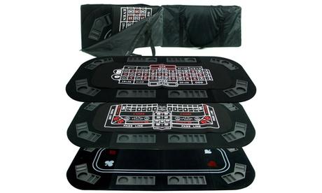 Superior 3 in 1 Poker/Craps/Roulette Tri Fold Table Top 3bf60dd1-38e3-44fc-b2c8-66b240d47288
