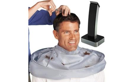 New Men's Grooming Kit Portable Hair Trimmer With Hair Bib Catcher No Mess 440b9ff9-d879-42e3-8def-2449e6b607f9