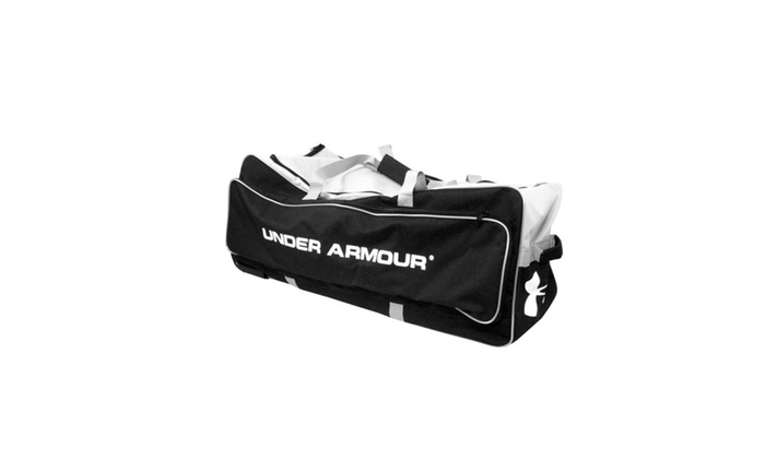 Under Armour Professional Wheeled Catchers Bag - Black Gray  2442fc5f362cd