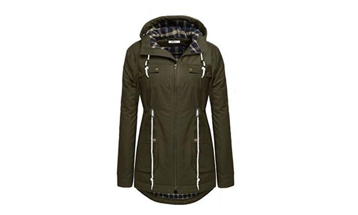Women's Winter Warm Thicken Plus Jacket Hooded Parka Coat Outwear