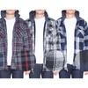 Mens Flannel Jacket Zip Up Fleece Hoodie Big & Tall Sherpa Heavy Lined