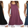Women Summer Boho Sleeveless Lace Mini Dress Evening Party Beach Dress