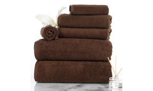 Lavish Home 100% Cotton Zero-Twist Towel Set (6-Piece)