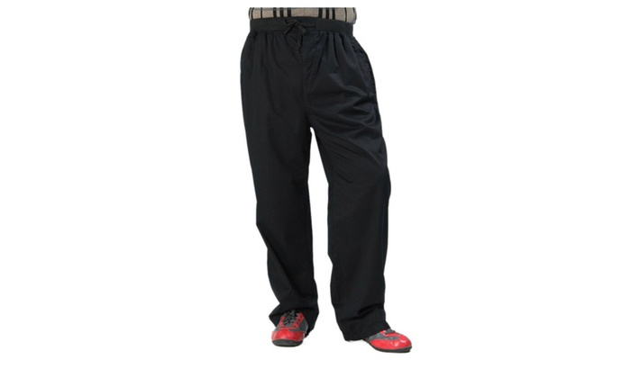 Men's Casual Expandable Waist Loose Fit Work Cargo Pants