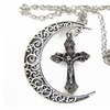 Moon and Cross Necklace