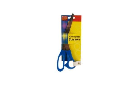 "Kole Imports 8"" Blue All Purpose Scissors - Pack of 24 fff121a2-b7a4-465a-977f-6c086b1a1737"