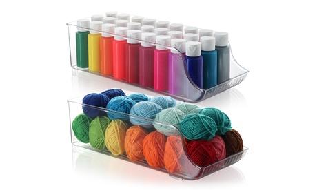 Storagebud Plastic Storage Organizer Bins for Craft & Supplies - 2 Pack