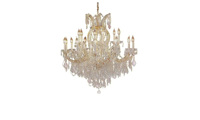 "Maria Theresa Chandelier Crystal Lighting H38"" X W37"""