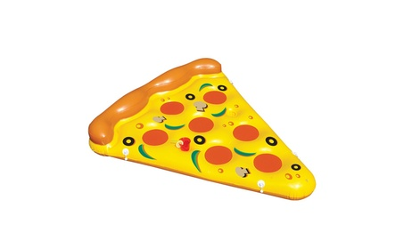 Rolling Aqua Inflatable Pool Lounge Floating Pizza Slice 529cbe59-7891-4525-9958-22603c517432