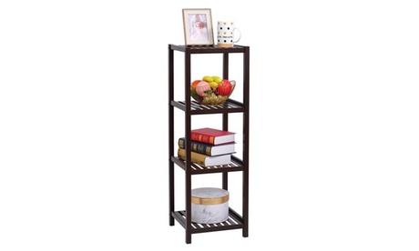 4-Tier Bamboo Bathroom Shelf Stand Rack Shelving Unit