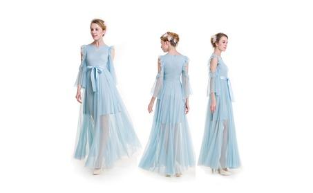 Women's Chiffon Ribbon Summer Dress 5d3272f9-b19f-49c8-89a2-9be0c203440c